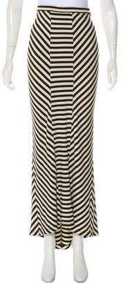 Torn By Ronny Kobo Striped Maxi Skirt
