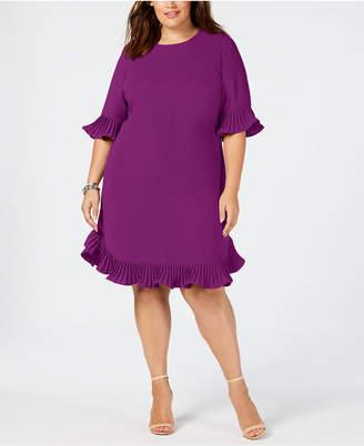 49772eba8654b Alfani Plus Size Pleated Flounce Dress