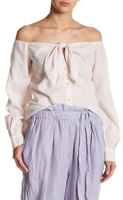 Free People Hello There Beautiful Off-the-Shoulder Shirt