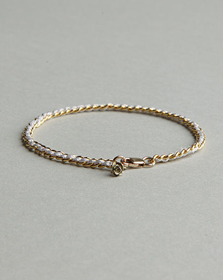 Alyssa Norton / Silk & Gold Bracelet