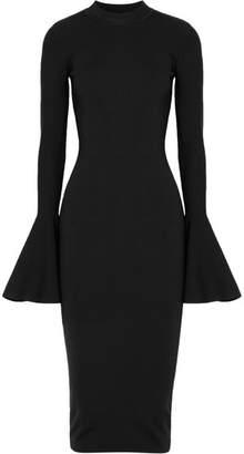 SOLACE London Corvo Stretch-knit Midi Dress - Black