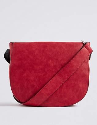 Marks and Spencer Faux Leather Saddle Shoulder Bag