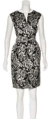 Halston Jacquard Knee-Length Dress