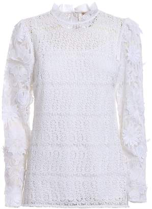MICHAEL Michael Kors See-through Lace White Blouse