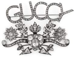Gucci Guccy Floral Motif Brooch