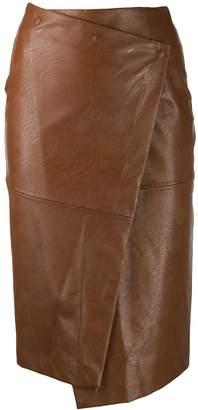 Nude wrap across skirt