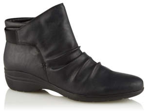 George Black Faux Leather Slouch Boots