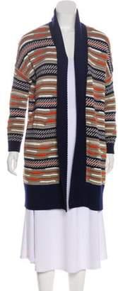 Diane von Furstenberg Merino Wool Longline Cardigan Navy Merino Wool Longline Cardigan