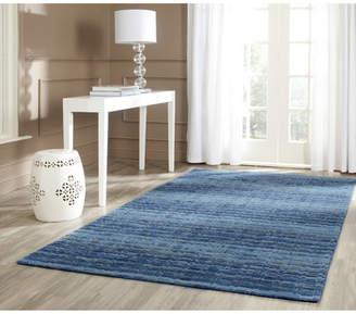 Blue Area Zipcode Design Sherri Hand-Woven Wool Rug