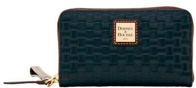 Dooney & Bourke Claremont Woven Zip Around Phone Wristlet - BLACK - STYLE
