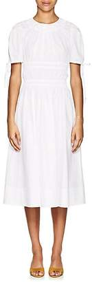 Brock Collection Women's Orsolina Ruched Cotton Poplin A-Line Dress - 100-White