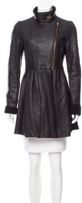 Miu Miu Shearling Knee-Length Coat
