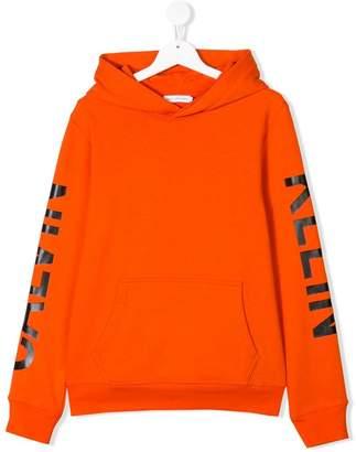Calvin Klein Kids TEEN logo hoodie