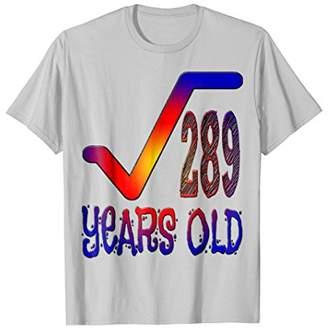 17 Years Old Birthday Mathematics Nerd Geek T-shirt