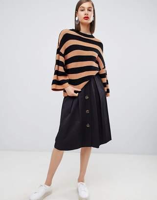 Moss Copenhagen oversized knitted jumper in stripe