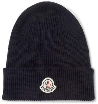 Moncler Logo-Appliquéd Ribbed Virgin Wool Beanie
