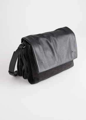 And other stories Large Leather Crossbody Bag