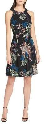 Tommy Hilfiger Garden-Print Jersey Fit-and-Flare Dress