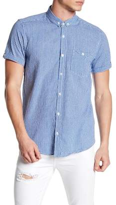 Soul Star Gingham Short Sleeve Regular Fit Shirt