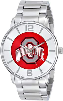 Game Time Men's COL-AP-OSU All Pro Slim Case Analog Display Japanese Quartz Silver Watch