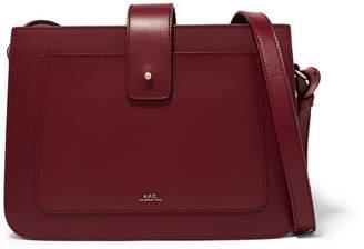 A.P.C. Albane Leather Shoulder Bag - Burgundy