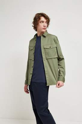 French Connenction Military Broken Twill Shacket