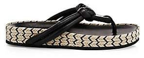 Rag & Bone Women's Eva Leather Espadrille Platform Thong Sandals