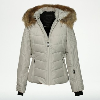 Oakwood Competition Beige Fur Trim Hooded Jacket