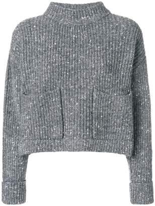 Philosophy di Lorenzo Serafini loose knit sweater