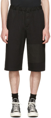 McQ Alexander McQueen Black Panelled Chino Shorts $325 thestylecure.com