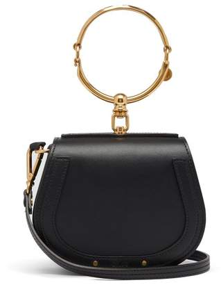 Chloé Nile Small Leather And Suede Cross Body Bag - Womens - Black