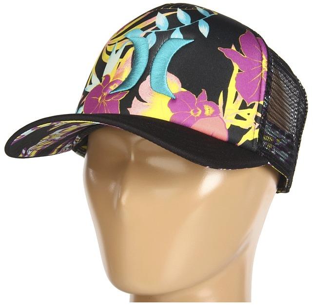 Hurley One Only YC Trucker Hat (Black Flammo) - Hats