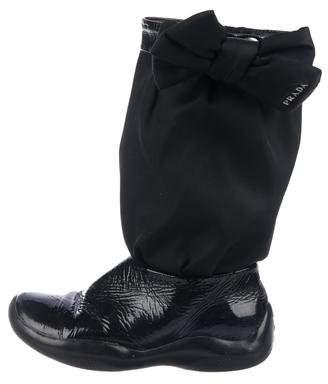 Prada Sport Girls' Patent Leather Boots
