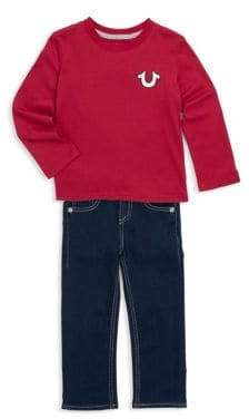 True Religion Little Boy's Two-Piece Cotton Top and Jeans Set