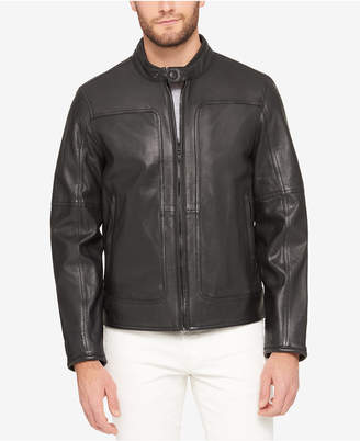 Marc New York Men's Snap-Collar Perforated Leather Moto Jacket $540 thestylecure.com