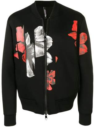 Neil Barrett floral print bomber jacket