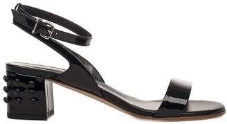 Tod's Black Patent Leather Heeled Sandal