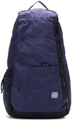 Stone Island zipped logo backpack