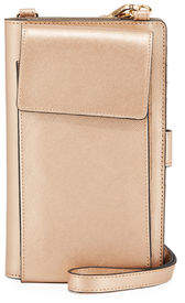 Neiman Marcus Saffiano Phone Crossbody Bag