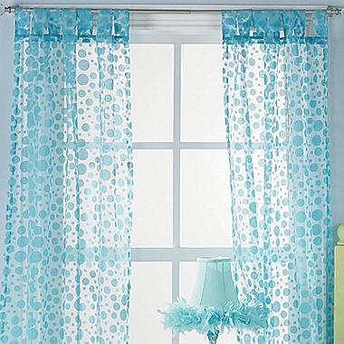 JCPenney Polka Dot Swirl Window Treatments
