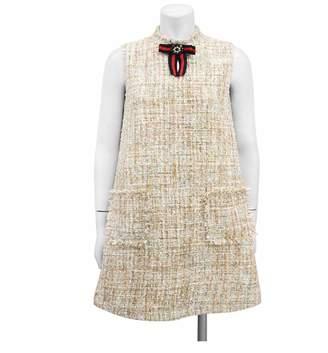 Gracia Sleeveless Tweed Dress