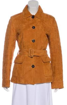 Agnona Leather Short Coat