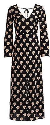 Rixo Women's Nora Shell Print Midi Dress
