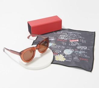 Peace Love World Reflective Soho Sunglasses