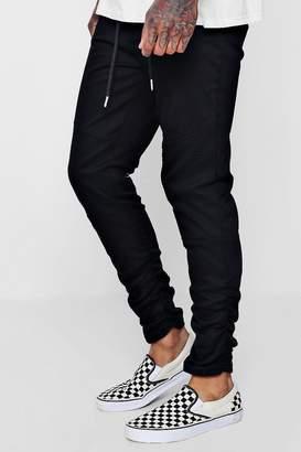 boohoo Ruched Side Biker Panel Trousers