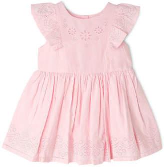 Sprout NEW Girls Flutter Sleeve Dress Lt Pink
