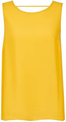 Dorothy Perkins Womens Yellow Sleeveless Top