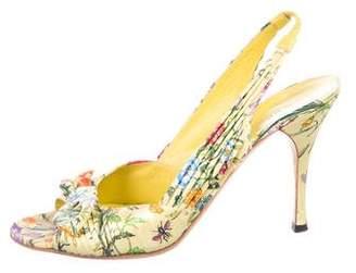 Gucci Floral Slingback Sandals