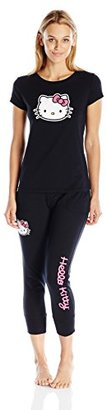 Hello Kitty Women's Back2basics Solid Pajama Set $38 thestylecure.com