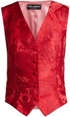 Dolce & Gabbana Cherub Jacquard Waistcoat - Womens - Red
